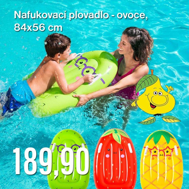 Nafukovací plovadlo - ovoce, 84 x 56 cm