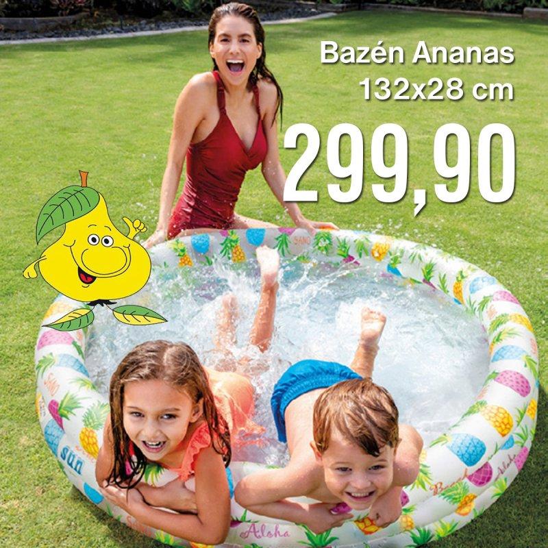 Bazén Ananas 132 x 28 cm