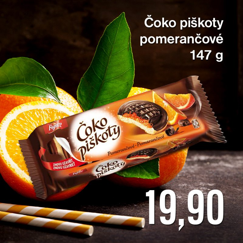 Čoko piškoty pomerančové 147 g