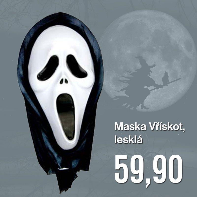Maska  Vřískot,  lesklá